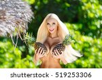 beautiful blonde with long hair ... | Shutterstock . vector #519253306