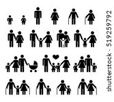 family and people icons. father ... | Shutterstock . vector #519259792