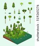 carboniferous era plants set... | Shutterstock .eps vector #519265276
