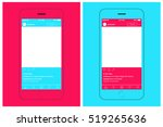 smartphone chatting sms... | Shutterstock .eps vector #519265636