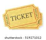 Vintage Admit One Ticket...