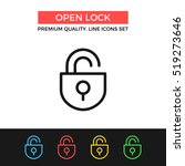 vector open lock icon. unlock...