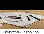 Small photo of Mathematics, Equations , aerodynamics handwritten notes . Study icon