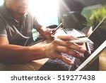 outsource developer working on... | Shutterstock . vector #519277438