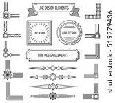 retro linear outline design... | Shutterstock . vector #519279436