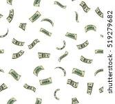 flying us dollars pattern.... | Shutterstock .eps vector #519279682