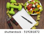 workout and fitness dieting... | Shutterstock . vector #519281872