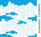 landscape pattern. vector... | Shutterstock .eps vector #519286042