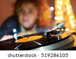image of christmas. turntable... | Shutterstock . vector #519286105