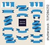 ribbon vector icon set. banner... | Shutterstock .eps vector #519286252