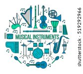 Musical Instruments Isolated O...