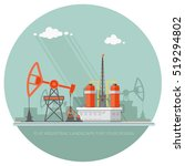 ecology concept   oil industry... | Shutterstock .eps vector #519294802
