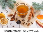 green spruce branches and... | Shutterstock . vector #519295966