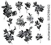 flower illustration material | Shutterstock .eps vector #519298432