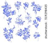 flower illustration material | Shutterstock .eps vector #519298435