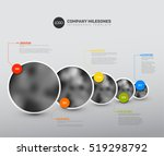 vector infographic company... | Shutterstock .eps vector #519298792