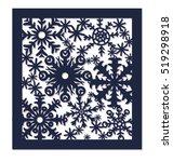 snow. christmas card. laser... | Shutterstock .eps vector #519298918