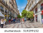 madrid  spain   june 29  street ... | Shutterstock . vector #519299152
