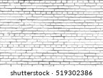 white brick wall background | Shutterstock . vector #519302386