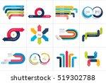 mega set of various arrows... | Shutterstock .eps vector #519302788