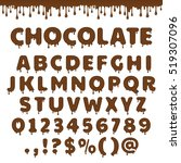dark chocolate latin alphabet ... | Shutterstock .eps vector #519307096