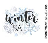 winter sale hand written... | Shutterstock .eps vector #519310105