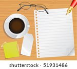 pages and desk | Shutterstock .eps vector #51931486