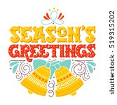 seasons greetings. hand drawn... | Shutterstock .eps vector #519315202
