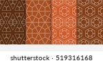 hexagon ornament. set of...   Shutterstock .eps vector #519316168