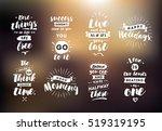 inspirational quotes set.... | Shutterstock .eps vector #519319195