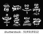 inspirational quotes set.... | Shutterstock .eps vector #519319312