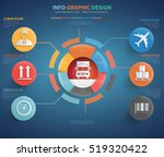 logistic cargo info graphic... | Shutterstock .eps vector #519320422