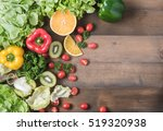 fresh salad vegetables and... | Shutterstock . vector #519320938