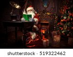 good old santa claus in his... | Shutterstock . vector #519322462