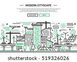 illustration of plain line flat ... | Shutterstock . vector #519326026
