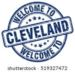 welcome to cleveland. stamp. | Shutterstock .eps vector #519327472