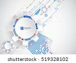 abstract technological... | Shutterstock .eps vector #519328102