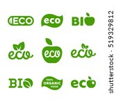 eco food  organic bio products  ... | Shutterstock .eps vector #519329812