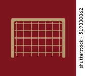 the football gate icon. soccer... | Shutterstock . vector #519330862