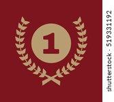the award icon. wreath symbol....   Shutterstock . vector #519331192