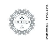 boutique  beauty logo series | Shutterstock .eps vector #519331546