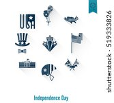 4th of july  independence day... | Shutterstock .eps vector #519333826