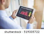 sales forecast on digital tablet | Shutterstock . vector #519335722