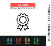 vector award icon. medal ... | Shutterstock .eps vector #519338032