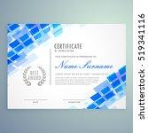 modern certificate template...   Shutterstock .eps vector #519341116