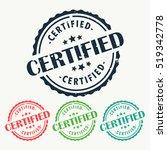certified rubber stamp badge... | Shutterstock .eps vector #519342778