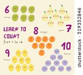 funny fruits. learn to count... | Shutterstock .eps vector #519352846