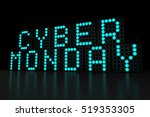cyber monday blue led display...   Shutterstock . vector #519353305