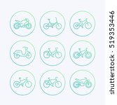 bikes  bicycle  cycling ... | Shutterstock .eps vector #519353446