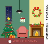 christmas room background... | Shutterstock .eps vector #519355822